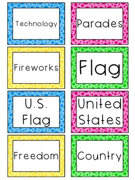 Kindergarten Social Studies Word Wall