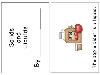 Kindergarten Solids and Liquids Mini Unit