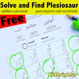 Kindergarten Solve and Find Math Worksheets