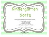 Kindergarten Sorts