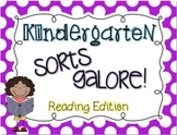 Kindergarten Sorts GALORE! {ELAR edition}