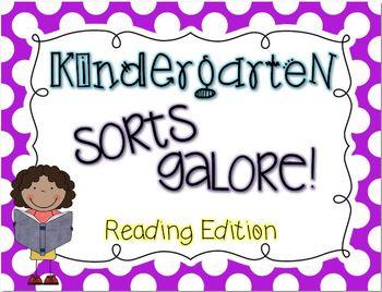 Kindergarten Sorts GALORE! {ELAR edition}