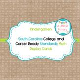 Kindergarten South Carolina Math Standard Cards