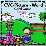 CVC Picture - Word Card  Games  - Spring