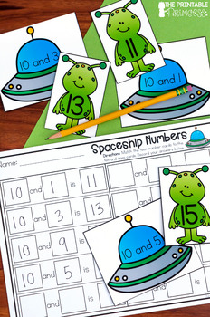 Kindergarten Space Theme Centers | Math and Literacy Activities