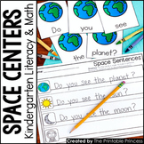 Kindergarten Space Theme Centers   Math and Literacy Activities