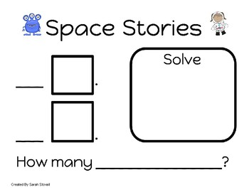 Kindergarten Space Stories Problem Solving Game