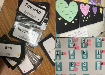 Kindergarten Spanish Heart Word (sight word) Packet
