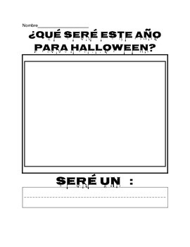Kindergarten Spanish ¿Qué seré este año para Halloween?