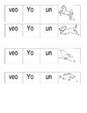 Kindergarten Spanish Sentence Building Worksheet
