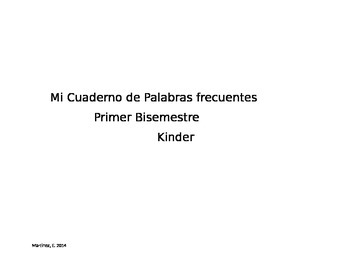 Kindergarten Spanish Sight Words Practice book part 1
