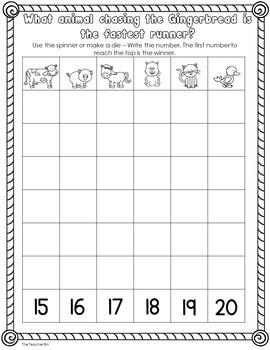 Kindergarten-Special Ed. -Math Daily Journal December (Gingerbread Alternative)