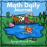 Math Daily Journal December - Gingerbread