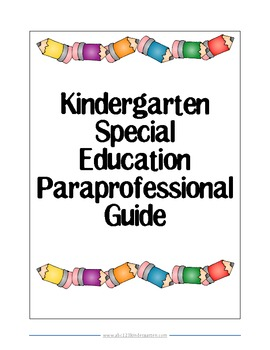 Kindergarten Special Education Paraprofessional Guide