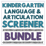 Kindergarten Speech & Language Screening Kit - No Print and Flip Book