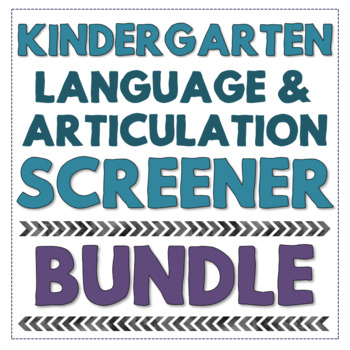 Kindergarten Speech Language Screening Kit No Print And Flip Book