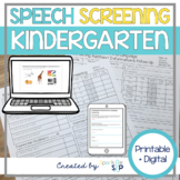 Kindergarten Speech and Language Screening Speech Therapy