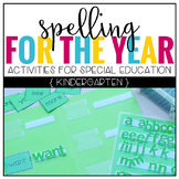 Kindergarten Spelling Curriculum (3 Levels - for Students with Special Needs)