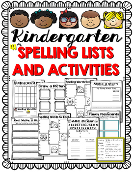Kindergarten Spelling Homework/Activities for the Year