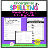 Kindergarten Spelling Word Lists EDITABLE {year-long}