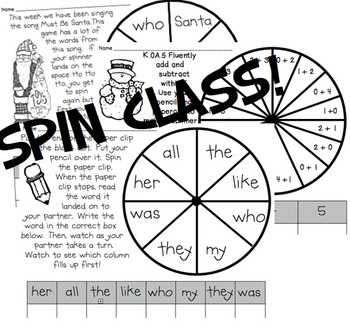 Kindergarten Spinners!