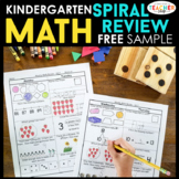 Kindergarten Math Spiral Review |  Kindergarten Math Homew