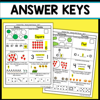 Kindergarten Math Review | Kindergarten Math Homework Kindergarten Morning Work