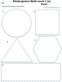 Kindergarten August Spiraling Math Work with Constructed Responses