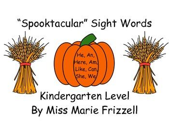 Kindergarten Spooktacular Sight Word Workstations