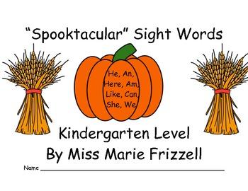 Kindergarten Spooktacular Sight Word Workstations PREVIEW