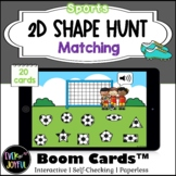 Kindergarten Sports Math Boom Cards™ | 2D Shape Hunt Boom