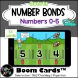 Kindergarten Sports Math Boom Cards™ | Number Bonds Boom C