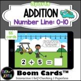 Kindergarten Sports Math Boom Cards™ | Number Line Additio