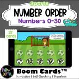 Kindergarten Sports Math Boom Cards™ | Number Order Boom C