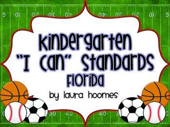 Kindergarten Sports Standards COMMON CORE Florida