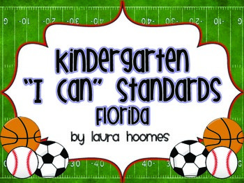 Kindergarten Sports Standards COMMON CORE Florida