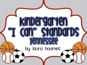 Kindergarten Sports Standards COMMON CORE Tennessee