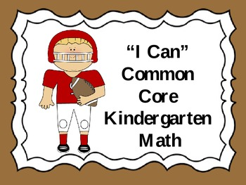 """Kindergarten Sports Themed Common Core """"I Can"""" statements"""