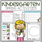 Kindergarten Spring Activities (Literacy + Math)