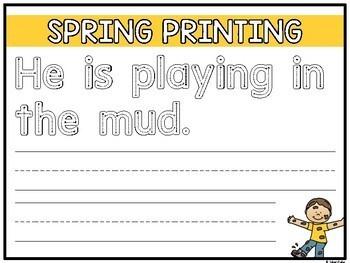 Kindergarten Spring Activities (Literacy + Math)