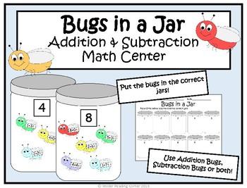 Spring Addition & Subtraction Kindergarten Math Centers