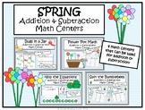 Addition & Subtraction Spring Math Centers- Kindergarten