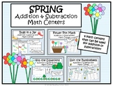 Spring Addition and Subtraction Kindergarten Math Centers-