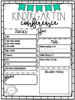 Kindergarten Spring Conference Data Collection