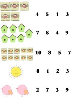 Kindergarten Spring Counting & Number Recognition FREEBIE!