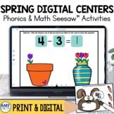 Kindergarten Spring Digital Centers for Seesaw™ Bundle
