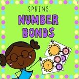 Kindergarten Spring Flower Number Bonds- Missing Part and Missing Whole