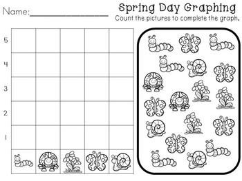 Kindergarten Spring Graphing -- No Prep!