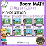 Boom Cards Math Bundle Kindergarten Spring