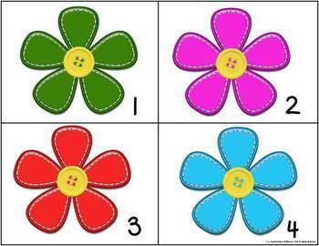 Kindergarten Spring Math Center Games